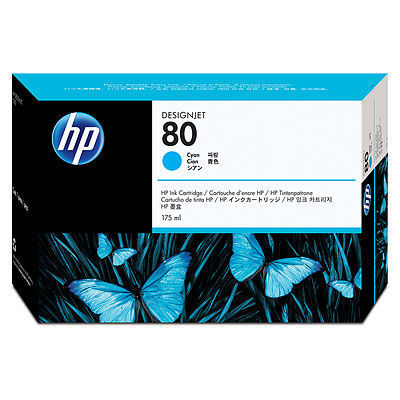 HP 80 Tintenpatrone cyan - 175 ml