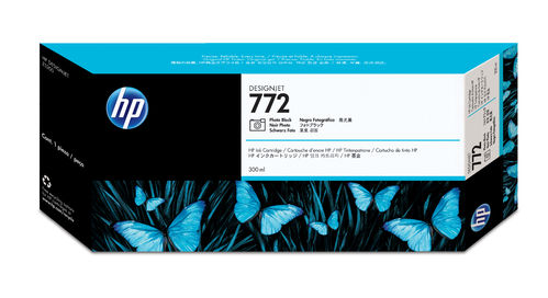 HP 772 DesignJet Tintenpatrone Photo Schwarz - 300 ml