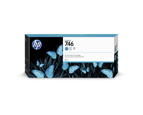 HP 746 300-ml Tintenpatrone Zyan