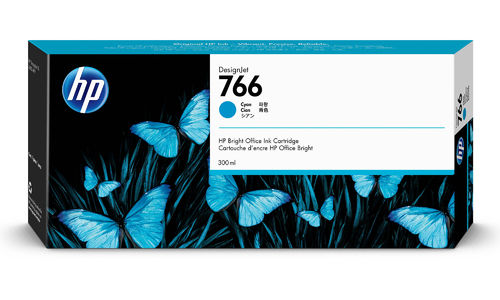 HP 766 Tinte Cyan - 300 ml